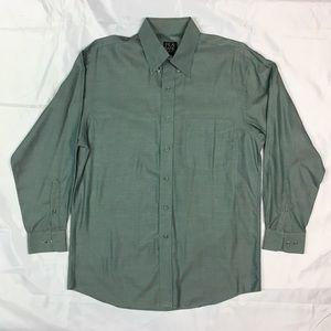Jos. A. Bank Long Sleeve Sage Green Dress Shirt